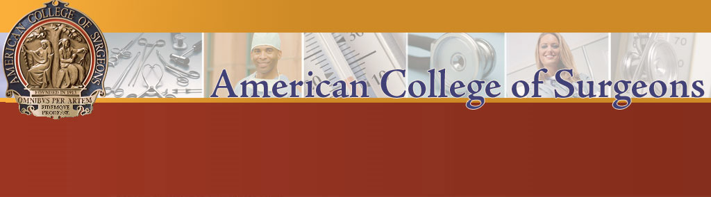 Local Chapter, American College of Surgeons. Click logo for home page.