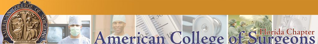 Florida Chapter, American College of Surgeons. Click logo for home page.