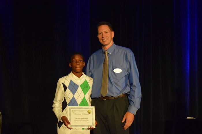 Poster Contest winner with NCDA President