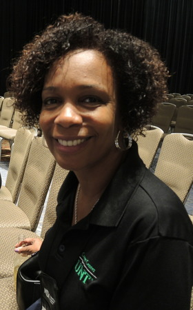 Smiling Conference Participant