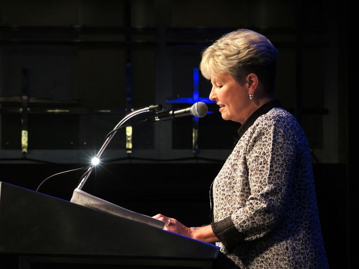 President Cynthia Marco Scanlon opens the conference