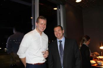 Outgoing President Ken Bailey and President Michael Streng