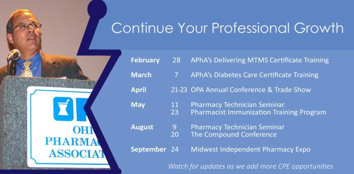 Upcoming OPA CE Programs