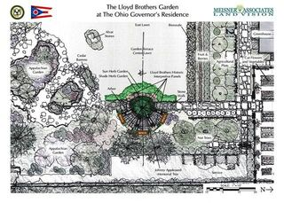 Landscaping design for Lloyd Medicinal Garden at the Governor's Residence
