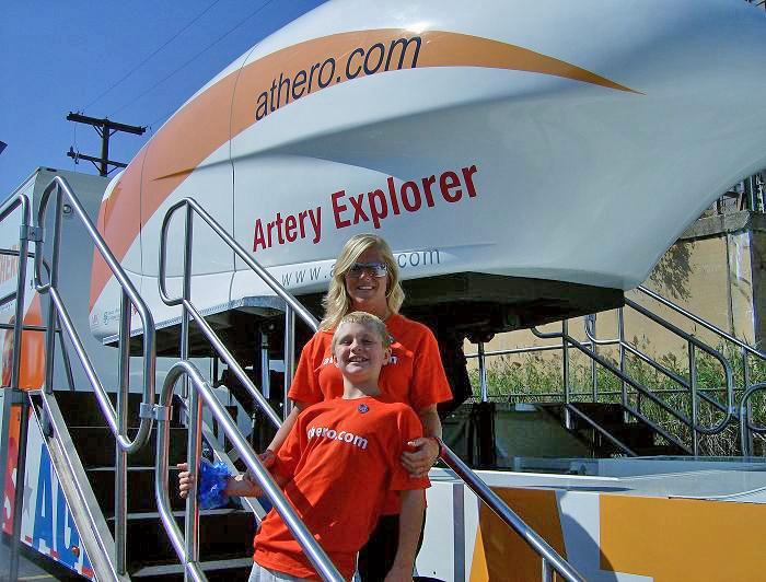 SCAA of NE Ohio volunteers Bryce Lafler and mom, Jennifer Lafler, show off