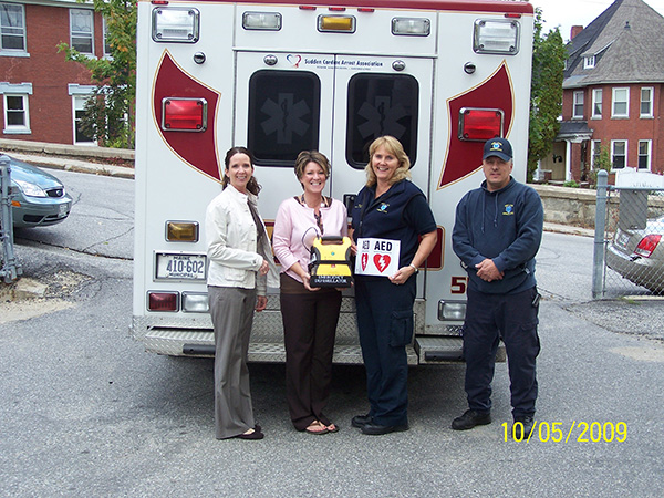 Western Maine AED Donation Event 100709 #2