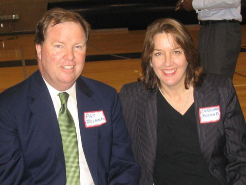 5/5/09-Pat Boland, survivor, with his wife Christine at the Awards Ceremony
