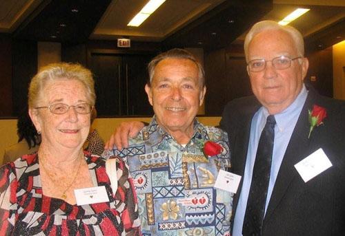 Jack Grogan with Survivor Sid Goss and his wife Gerri