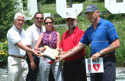 Golf Tourney AED Donation